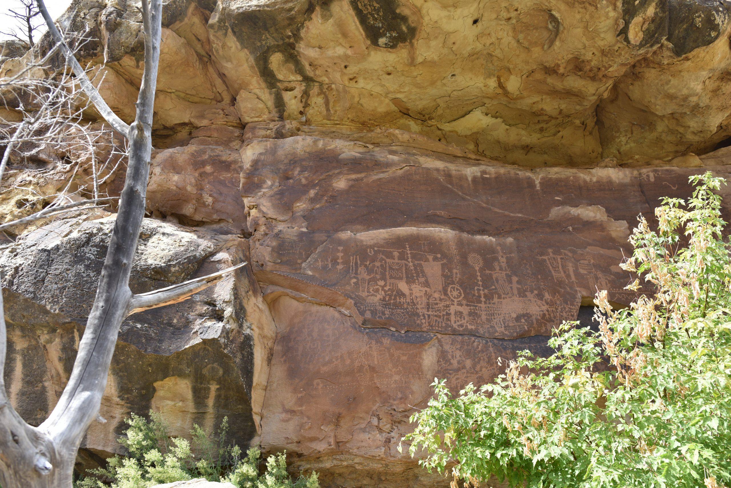 The petroglyph panel at Flat Canyon